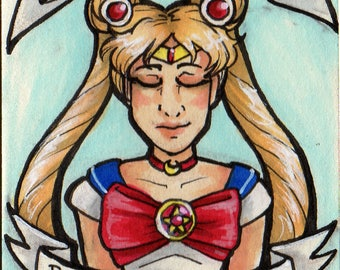 ORIGINAL ACEO - Sailor Moon
