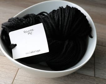 Malabrigo Chunky yarn Black 195 yarn. Soft Merino wool.
