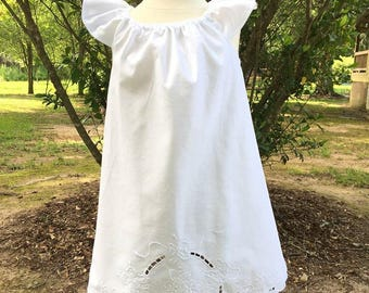 Upcycled Vintage Cotton Woven Dress
