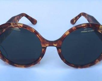 Vintage 70s Leopard round CHANEL sunnie