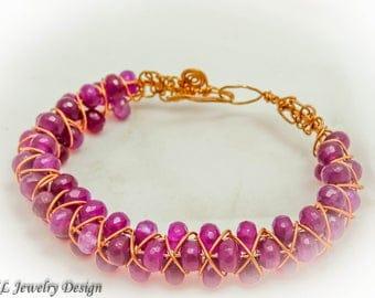 Triangle Braided Wire Bracelet