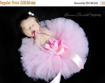 "SUMMER SALE 20% OFF Baby Tutu - Pink Tutu - 6"" Sewn Infant Tutu - sizes newborn up to 12 months - Ready To Ship - Tutu for girls, birthdays,"