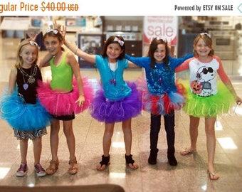 "SUMMER SALE 20% OFF Design Your Own Girls Tutu Skirt - 8"" Sewn Tutu - Girls sizes 9 to 12"