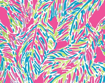"Palm Reader Pink  Lilly Inspired HTV,pattern vinyl,sheet size 12""x12"", Lily P adhesive printed patterned craft vinyl LP-165"