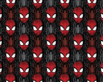 Marvel Comics SpiderMan, faces and spiders on Black, Yard