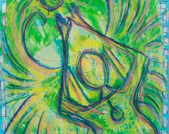 SALE Original Expressive Energetic Angel Spirit Guide Navin