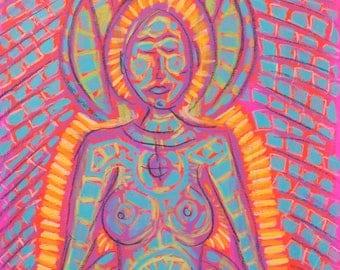 SALE Original Expressive Energetic Angel Spirit Guide MaPurda