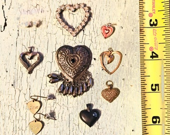 Vintage Jewelry Supply - Hearts