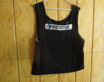 Extra Large Black Dallas Mavericks Upcycled T Shirt Market Tote Bag