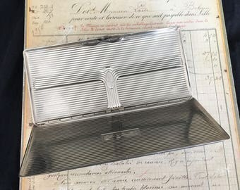 Vintage Evans Silver Cigarette Case