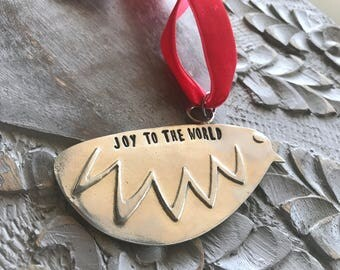 Pewter Partridge Chick Ornament - Joy to the World