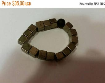 Out of Business Fool For You Mens Pyrite , and Black Onyx Stretch Bracelet