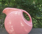 Vintage Fiesta Rose Pink Pitcher - Fiesta USA 1980s - Large Pink Pitcher - Fiestaware