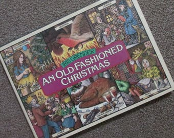 """Vintage Christmas Book - """"An Old Fashioned Christmas"""" - Iris Grender 1979"""