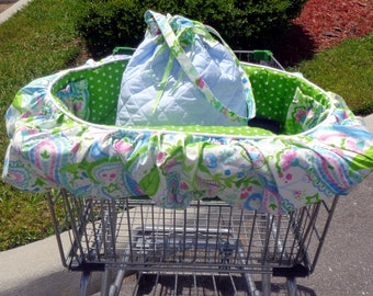 Dog Cart Cover - Shopping Cart Cover - Dogs - Pets - Includes Matching Tote - Embroidered Personalization