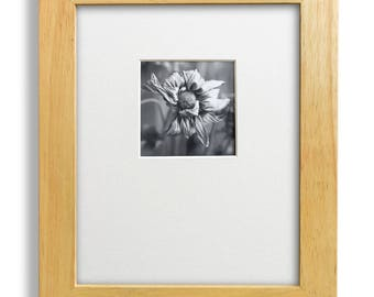 Framed Gelatin Silver Dead Flower Darkroom Photograph, hand printed darkroom photo, framed photograph, rescued thrift shop frame