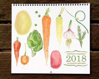 FMC18: 2018 Farmer's Market Art Print Calendar from Rigel Stuhmiller