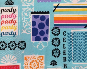 Party Celebrate fabric - 34 inches x 41 inches - Birthday