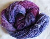 Hand painted Cotton Boucle Yarn - 315 yds.  PURPLE RAIN