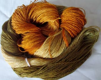 Hand Dyed Bamboo Yarn - OLD GOLD - 630 yds.