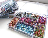 Seed Bead Sweepings, Destash Lot, Mixed Glass Rocaille Beads, Multicoloured, Bargain Box of Beads