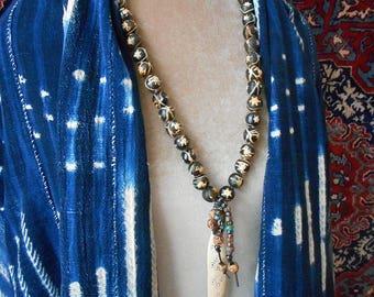 Tribal Art to wear, rare vintage beads, classic elegance