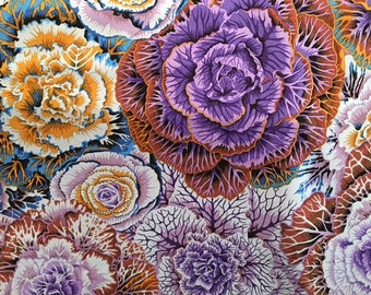 "2  yards Brassica in ""dark"" from the Kaffe  Fassett Collection"