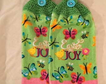 Easter Joy Print Kitchen Towel set of 2
