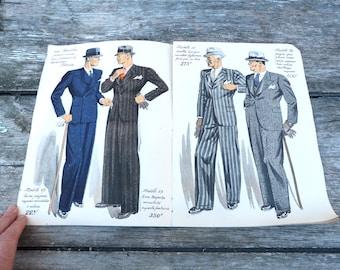 Vintage 193/1940 French men fashion catalog