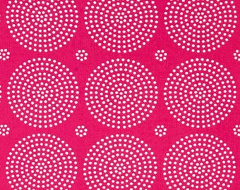 HALF YARD - Joel Dewberry Fabric, Atrium, Eclipse, Fuchsia, cotton quilting fabric