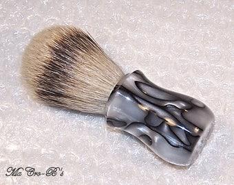 Silvertip Badger Hair Shaving Brush in Black Pearl Acrylic 22mm X 58mm Gift for Him