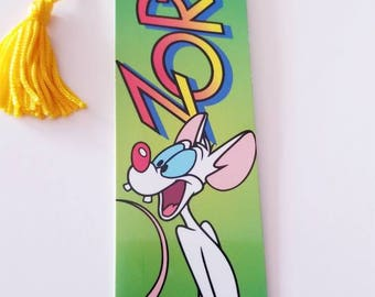 Animaniacs Pinky and the Brain Zort bookmark Vtg 90's cartoon Antioch vintage