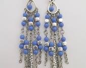 Boho Chandelier Earrings - Periwinkle