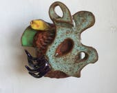 Ceramic sculpture, abstract fine art, nature inspired boho decor, undersea, housewarming