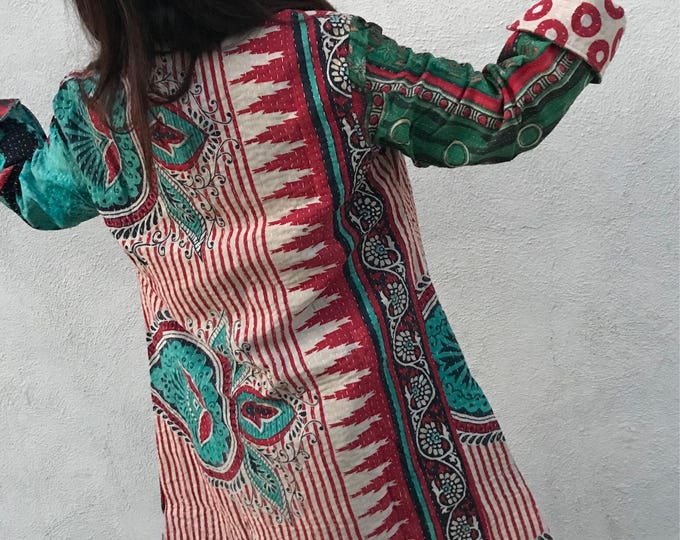 super cool kantha reversible duster