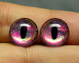 Seconds- 11mm Dichro UV slit irises color Opal
