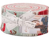 "Moda Return to Winter's Lane Jelly Roll 2.5"" Precut Fabric Quilting Strips Kate & Birdie 13170JR"