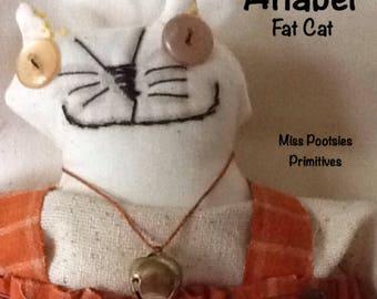 Anabel Fat Cat Doll Handmade OOAK primitive