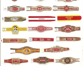 280 CIGAR BAND Labels -new old stock cigar bands lithographed in 1930 ++++