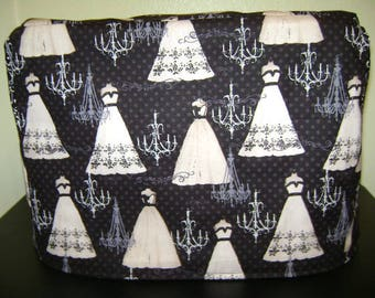 Sewing Machine Cover In Wedding Dresses And Chandeliers Fabric standard Size