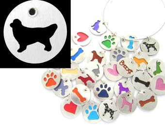 Golden Retriever Sterling Silver Necklace Pendant Charm - Lots of Colors