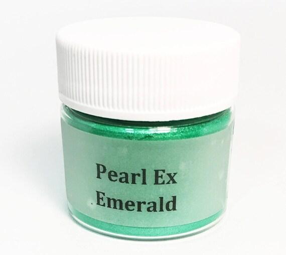 Pearl Ex Mica Pigment Powder 6 gm Jar EMERALD #636 - Jewel Green Art Craft Paint Medium Mixed Media Collage Jewelry Resin Wax Clay Jewel