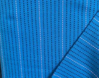 Anna Maria Horner Loominous Dotted Line Cobalt Woven Cotton
