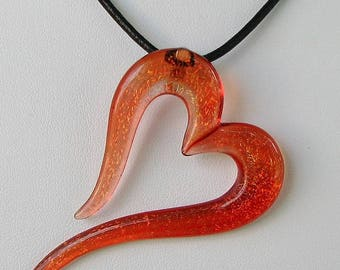 Dichroic Heart Pendant