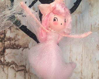 Ghastly ghost girl halloween ornament pink ghost vintage retro inspired fall halloween decor apparition party decor