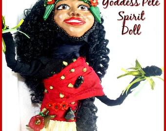 Pele -  Fire Goddess of Volcanoes Spirit Doll