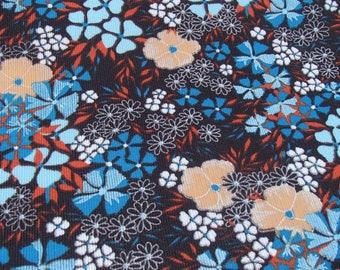 Vintage European fabric / original 60s / flower / skirt / dress