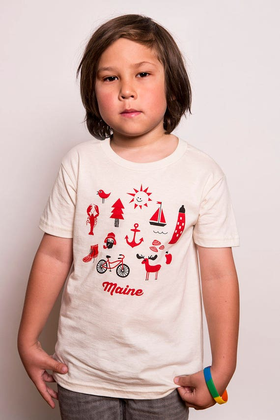 Kids Organic Iconic Maine Tee
