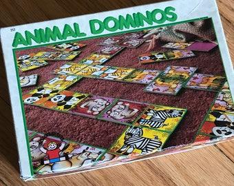 Vintage Animal Dominoes Discovery Toys 1990 Deer Zebra Panda Tiger Kangaroo