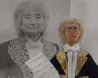 Seiji Ozawa Japanese Conductor Orchestra Music Modern Composer Music Collectible Figure